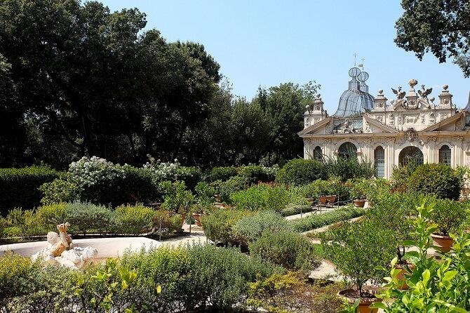 villa borghese gardens roma
